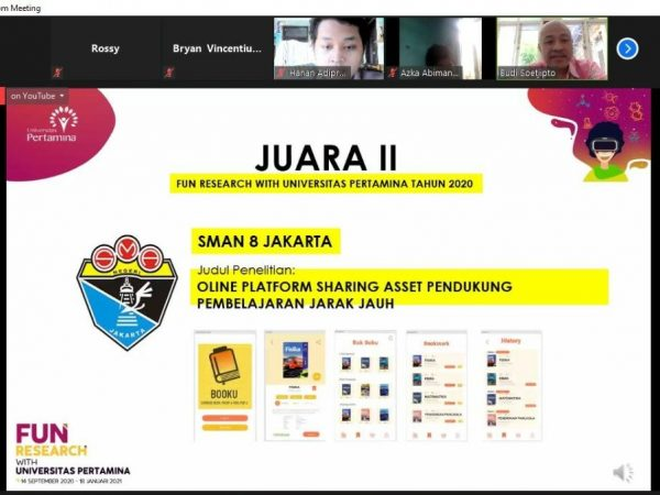 SMAN 8 Jakarta Menyabet Gelar Juara pada Fun Research With Universitas Pertamina Tahun 2020